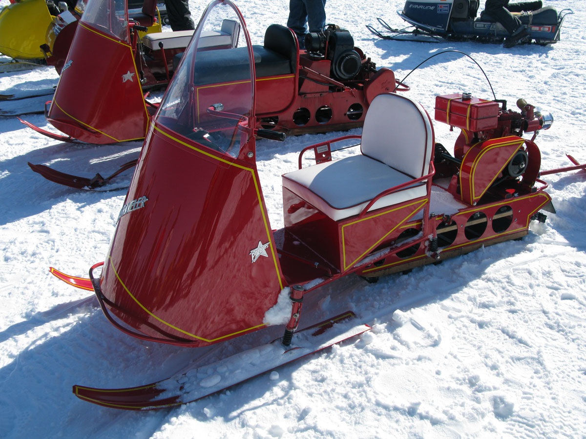 fish lake vintage snowmobile ride door distribute